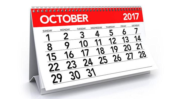 calendar october