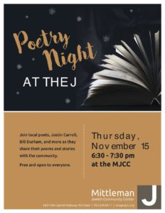 Poetry Night at the J @ Mittleman Jewish Community Center | Portland | Oregon | United States