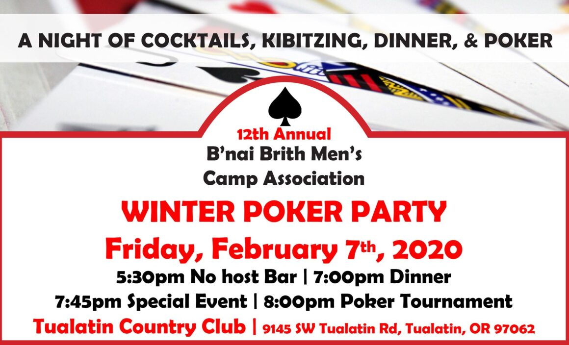Winter Poker Party @ Tualatin Country Club